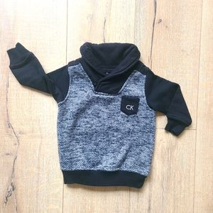 (2/$15) Calvin Klein Black and Gray Sweater